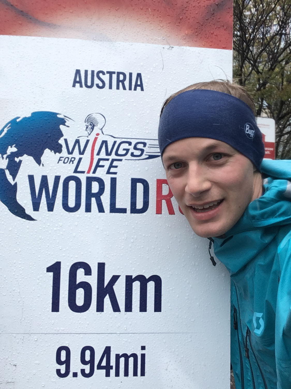 Zufrieden bei der 16-Kilometer-Marke