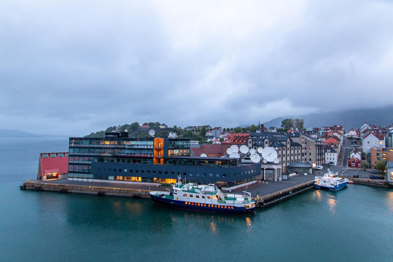 Auslaufen aus dem Hafen...