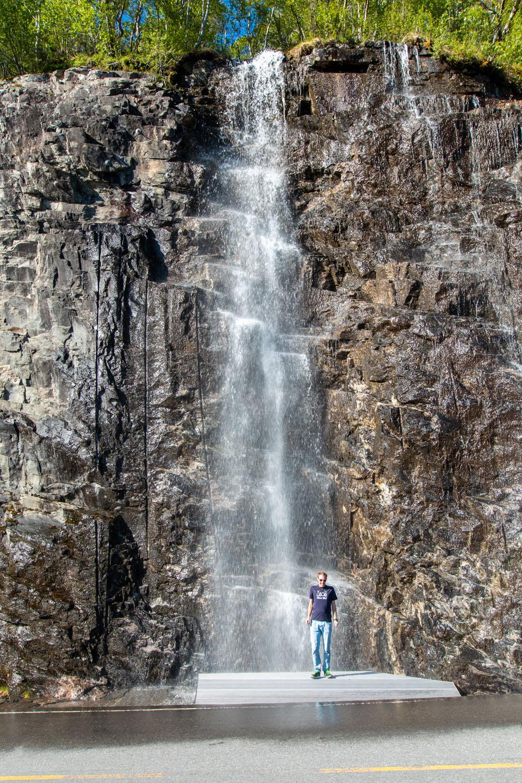 Wasserfall beim Aussichtspunkt Ørnesvingen