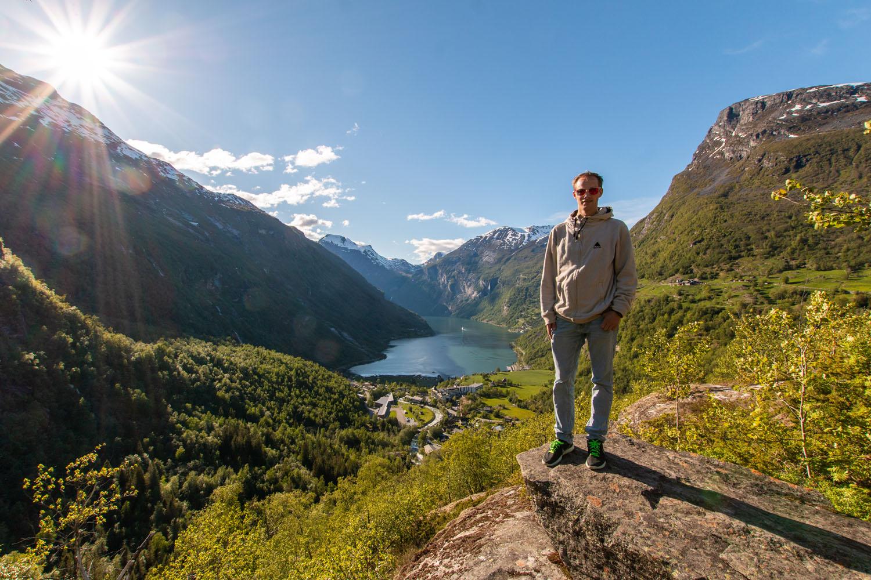 ...auf den Geirangerfjord
