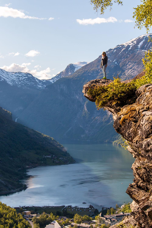 ...auf den Geirangerfjord und Geiranger