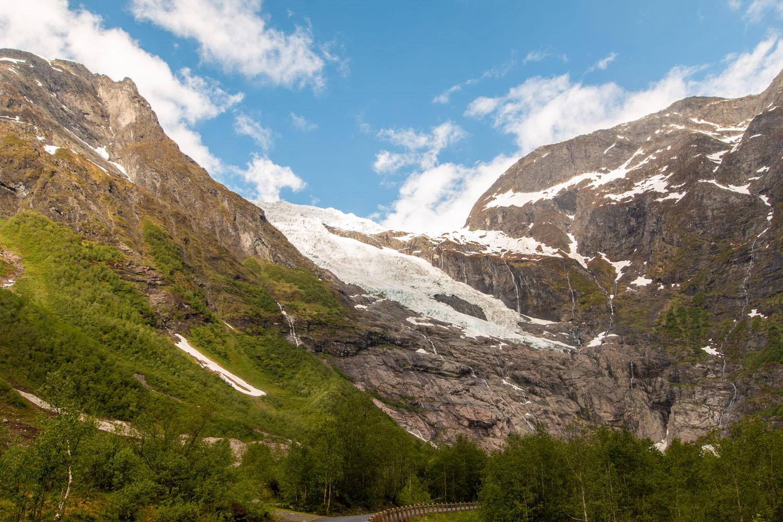 Bøyabreen vom Rastplatz aus