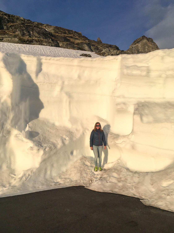 Am Aussichtspunkt lang noch einiges an Schnee