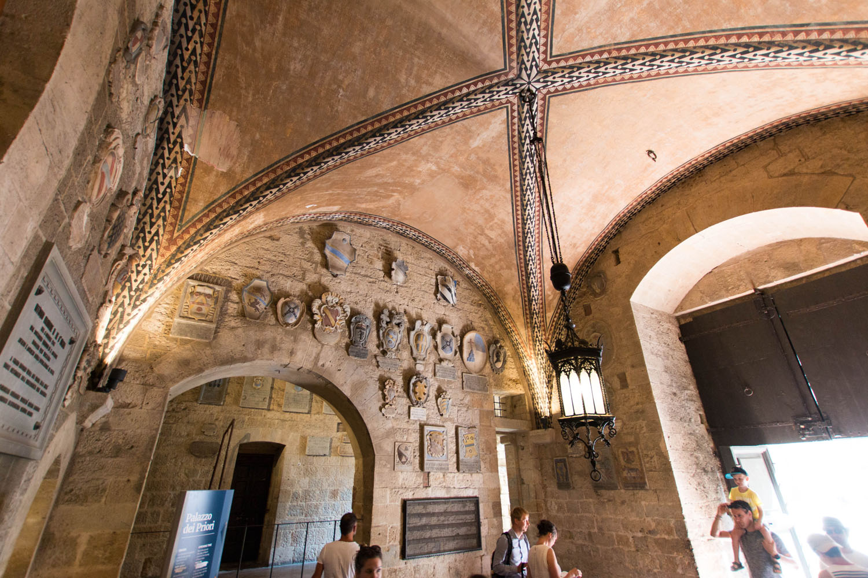 Eingangsbereich des Palazzo dei Priori