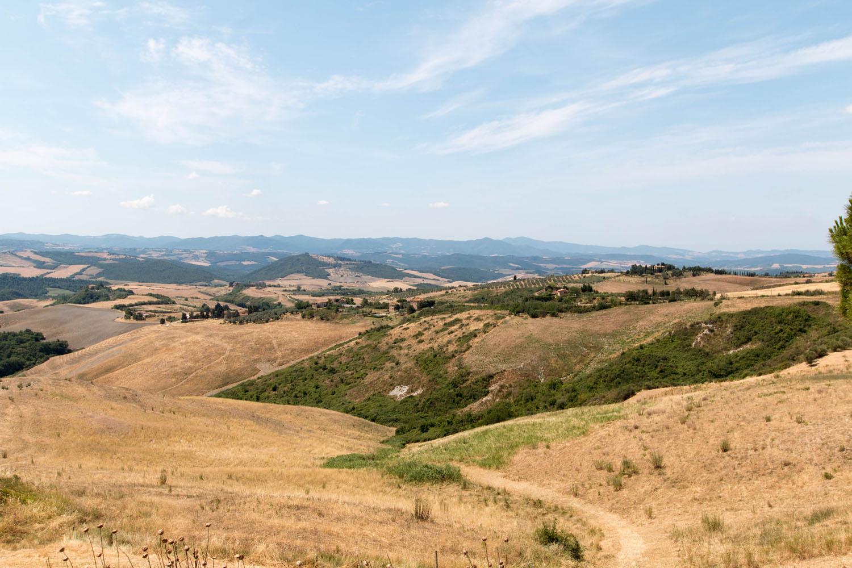 Ausblick auf das Umland Volterras