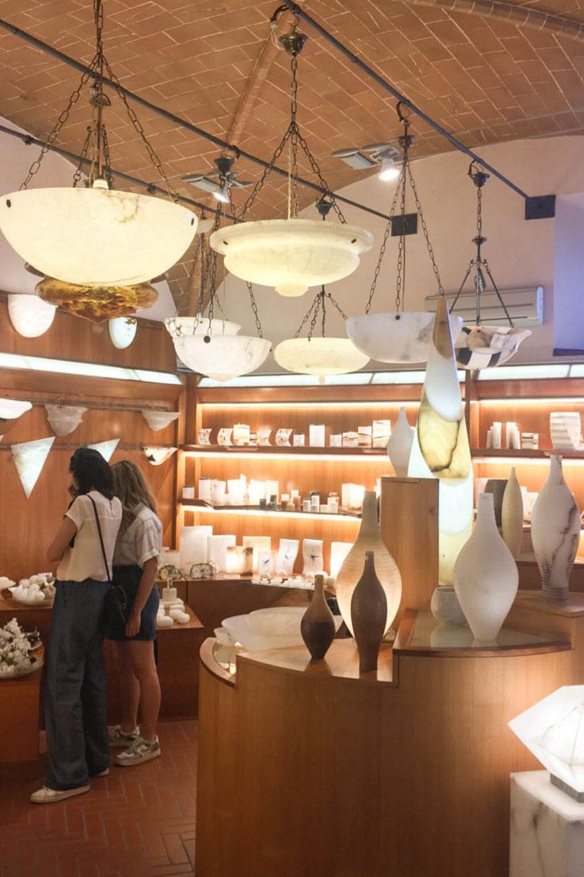 Alabaster-Geschäft in Volterra