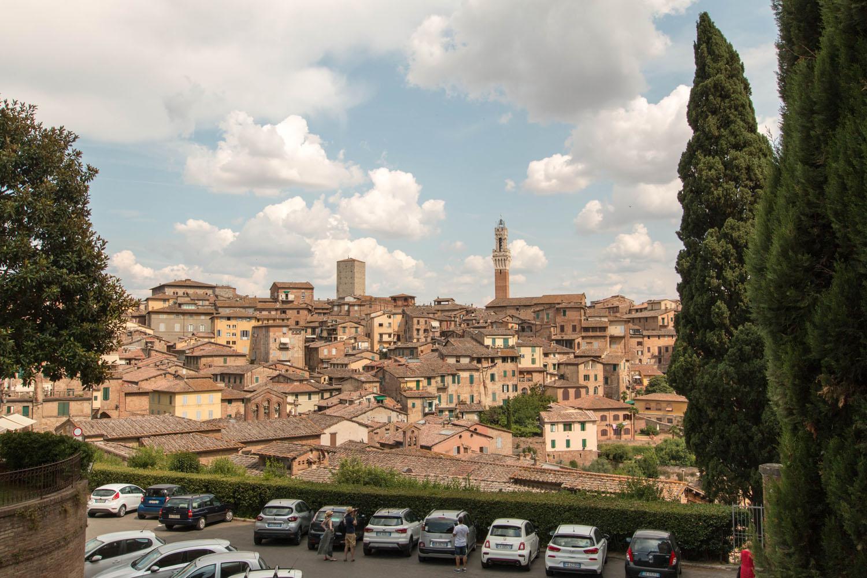 Blick von der Basilika auf die Innenstadt