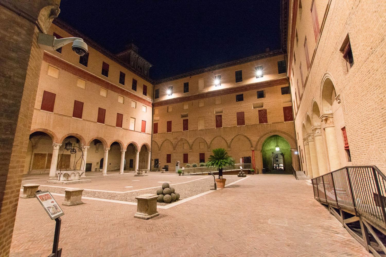 Innenhof der Burganlage