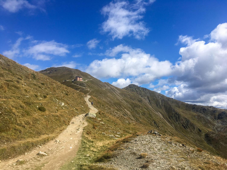 Trailpassage zum Leckfeldsattel