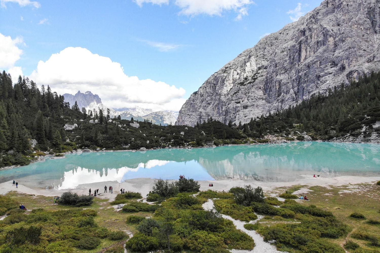 Wanderung vom Passo Tre Croci zum Lago di Sorapis