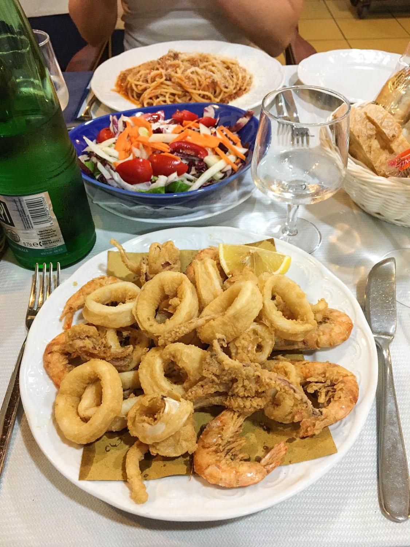 Abendessen im Ristorante Il Delfino