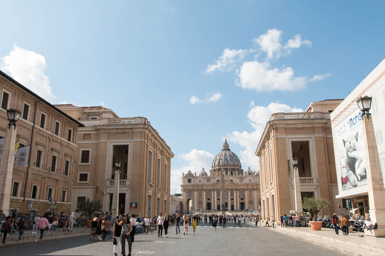 Blick zurück auf den Vatikan