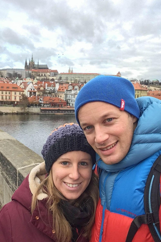 Blick vom Kreuzherren-Platz Richtung Prager Burg