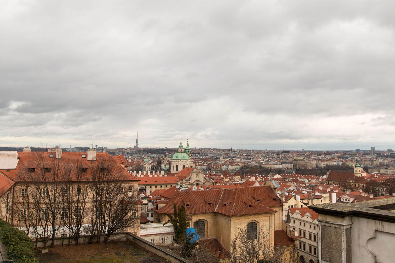 Aussicht von der Prager Burg auf die Stadt