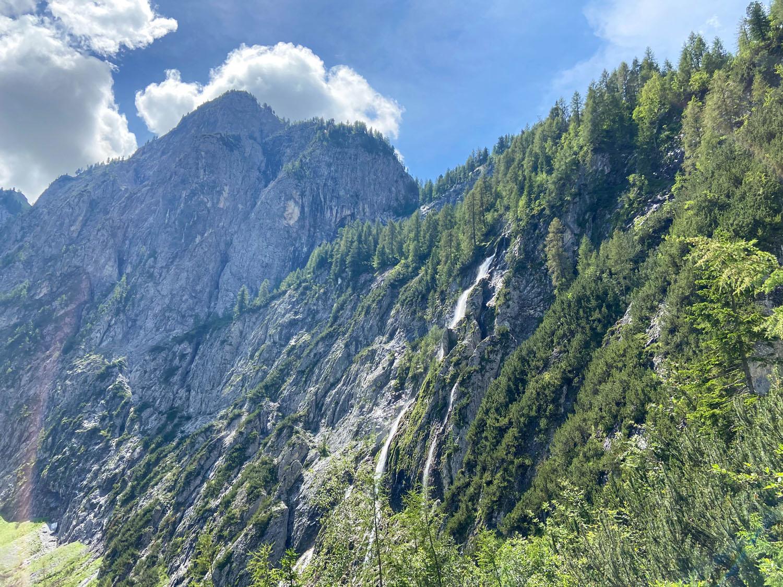 Der Wasserfall am Talende Winklertal
