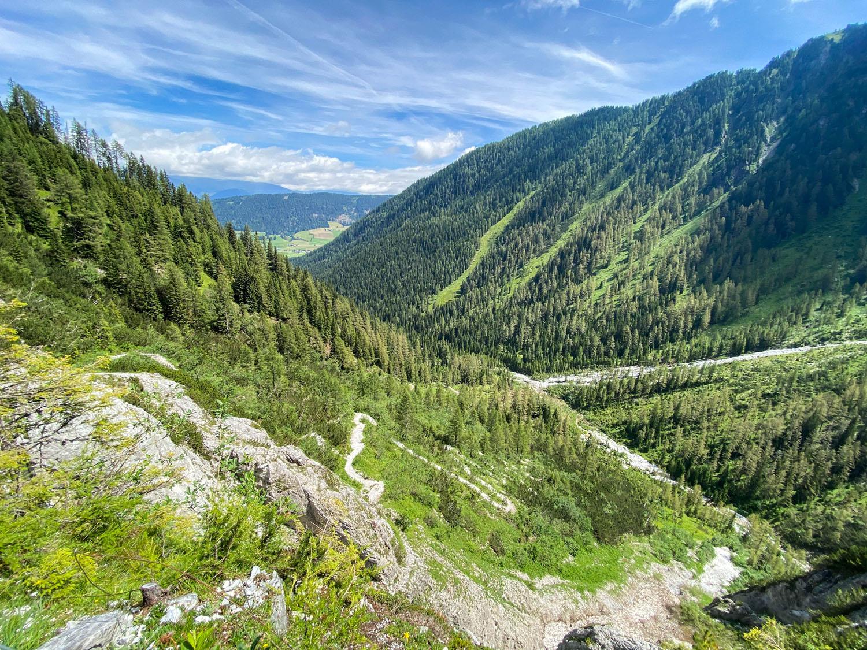 Blick zurück Richtung Kartitsch Winklertal
